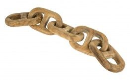 CARVED WOOD CHAIN