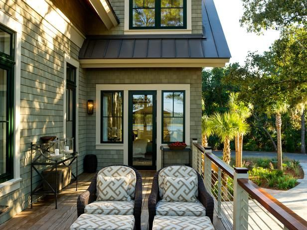 This home has such a cohesive feel with the tones of the roof, siding, windows and trim
