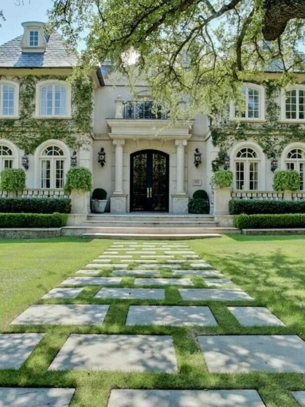 this walkway exudes sophistication, meanwhile your gardener hates you