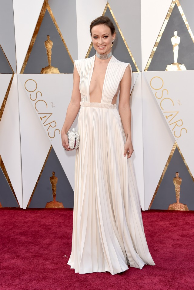 olivia wilde in valentino.  I'm a sucker for pleating so this gown had me.  I don't love the choker though