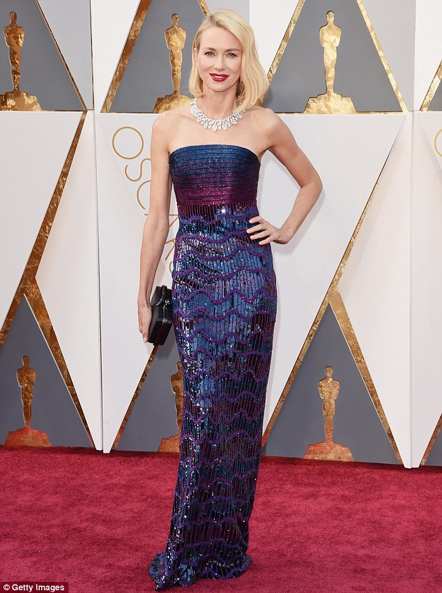 Naomi Watts wearing Armani prive.  My favorite thing about this gown is her husband actor, Liev Schreiber, made the final selection and picked this dress