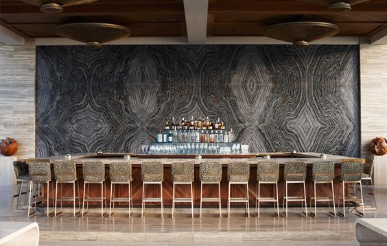 Hotel Viceroy Anguilla and resort  designed by  kelly Wearstler  using  walker zanger 's tuscan silver travertine
