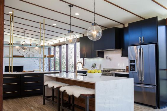 midcentury modern on fixer upper