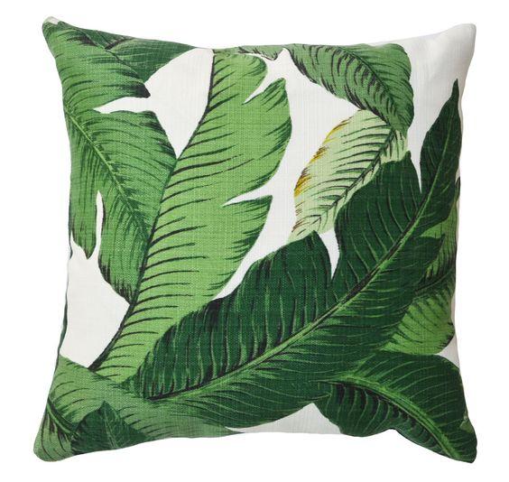 banana palm pillow