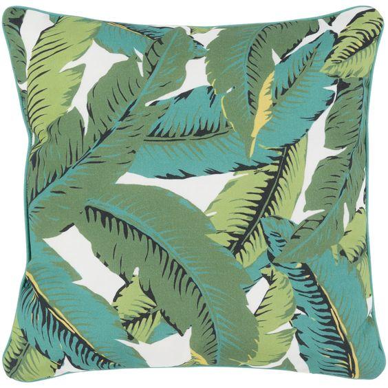 lush leaf pillow