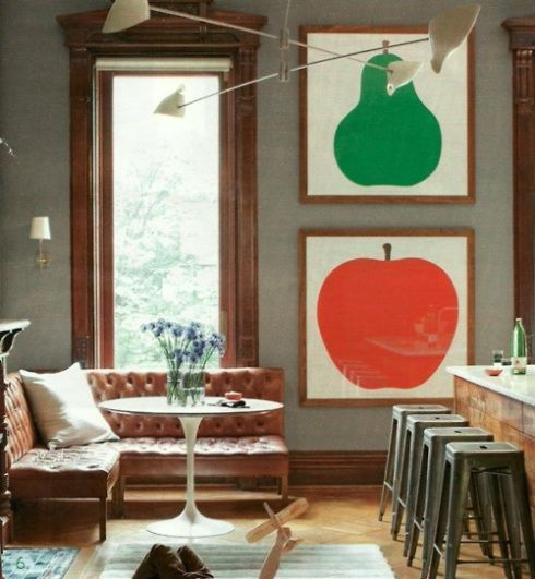 enzo mari's iconic apple and pear  art
