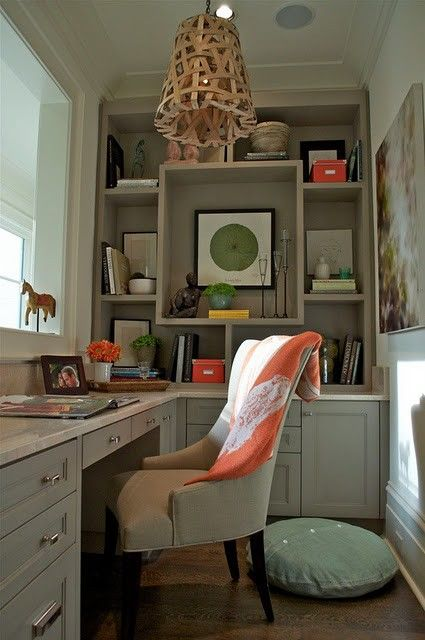 great custom bookcase; designed by  Scout for the HOme
