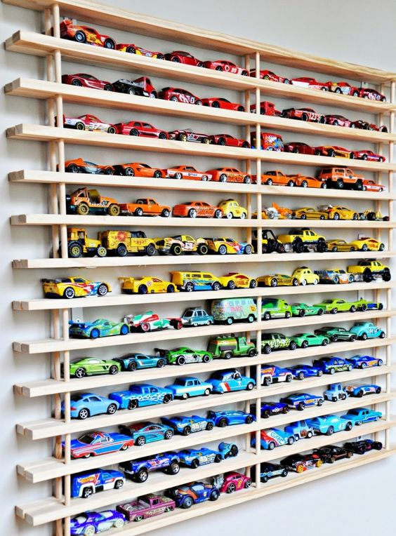 We're big fans of vehicles around here so  this  is a perfect vertical storage option.