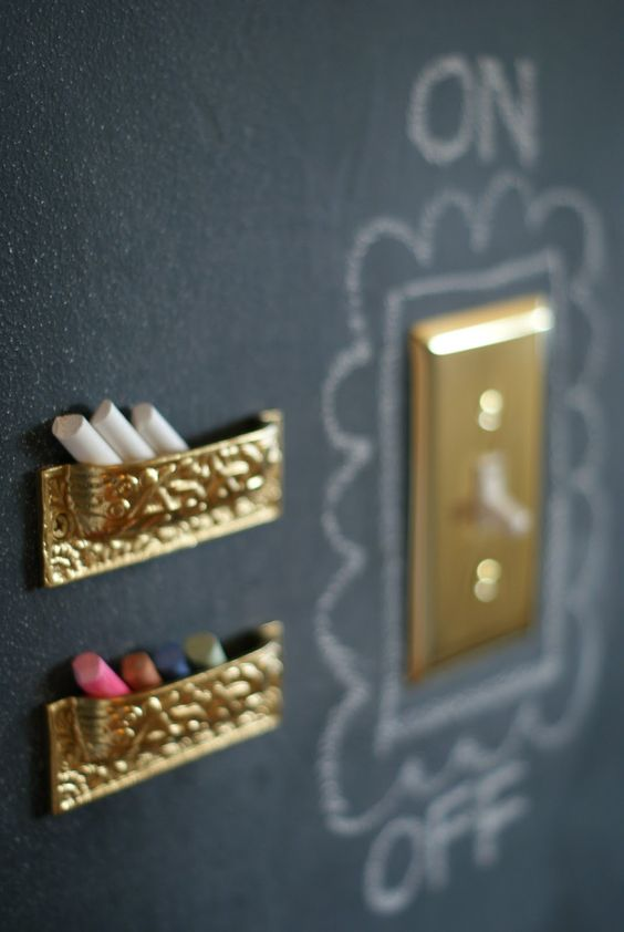 such a simple detail, but it's the idea that storage can look pretty. And these are just upside down drawer pulls!!