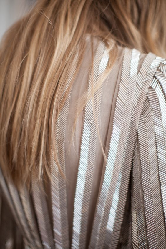Herringbone pleatS with beads