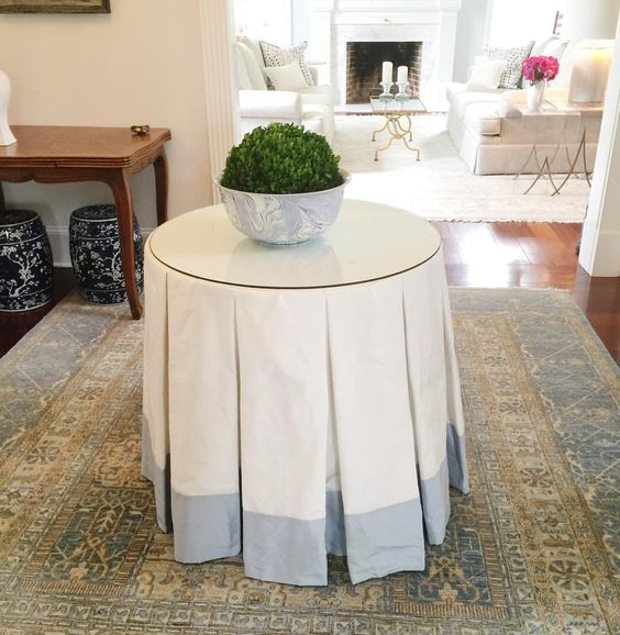 My modern heart still loves a TRADITIONAL  skirted  table