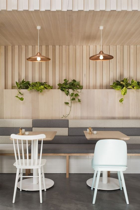 Doesn't this  restaurant 's wood detail remind you of pleating?