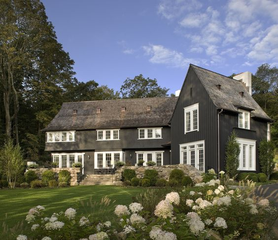 Reminicent of an old english home, but with some modern aesthetics.  if you think this is beautiful, you need to see the rest of the  exterior and interior  of the home.  The interior was designed by  Alexa Hampton .