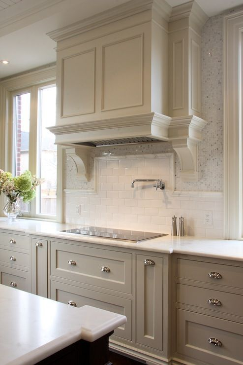 Greige Kitchens The Berkshire House - Best greige for kitchen cabinets