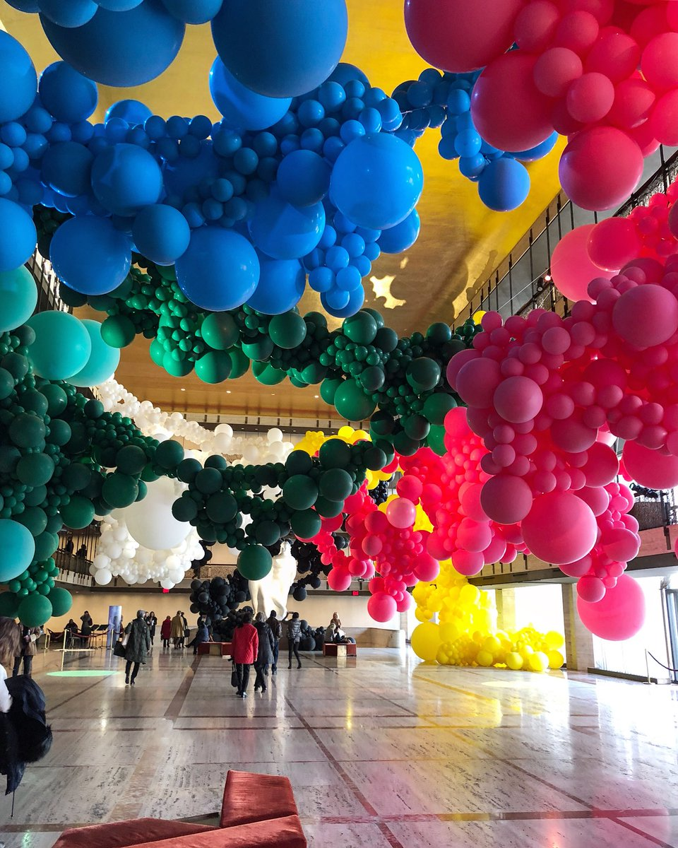 The art installation at the Lincoln Center for the  New York City Ballet .