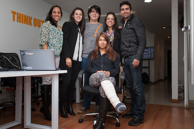 The VoiceBunny Client Services team in Bogota, Colombia
