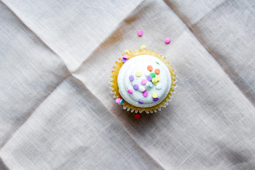 Birthday Vanilla Cupcake