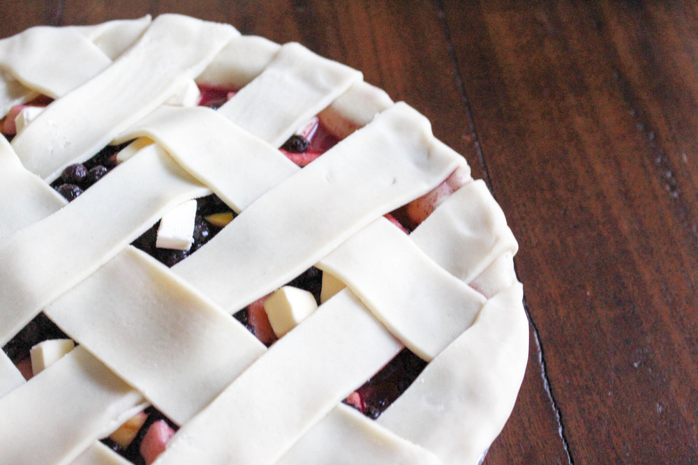 Freeze Ahead Apple Berry Pie