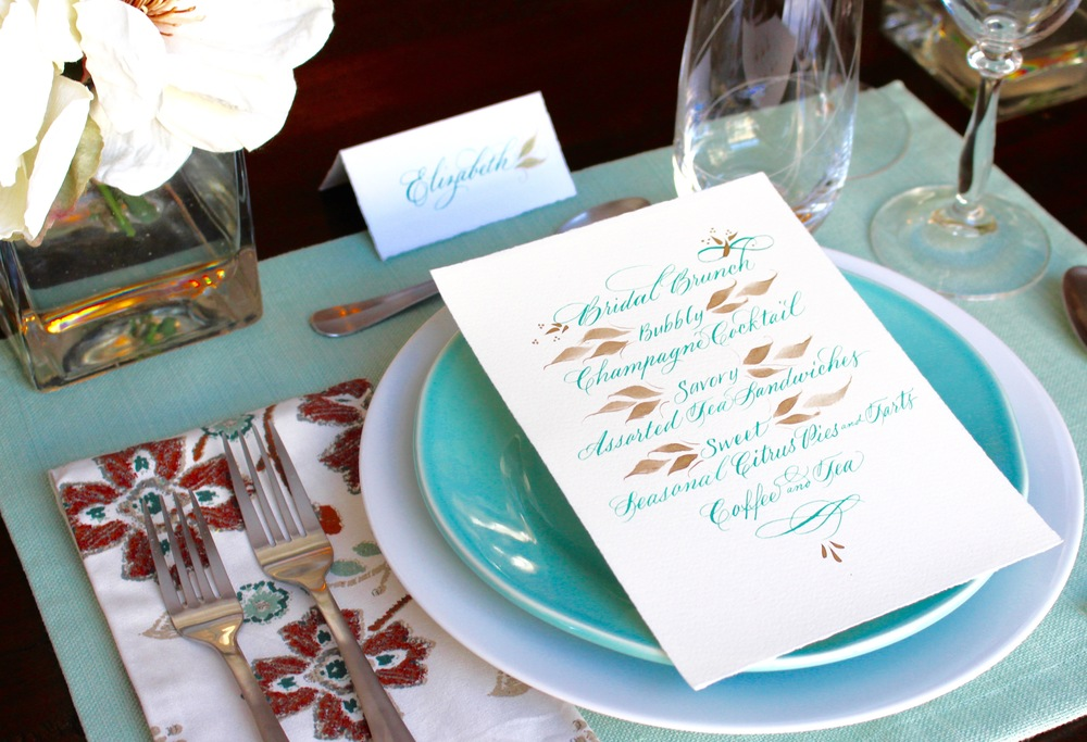 Bridal Brunch Place Setting