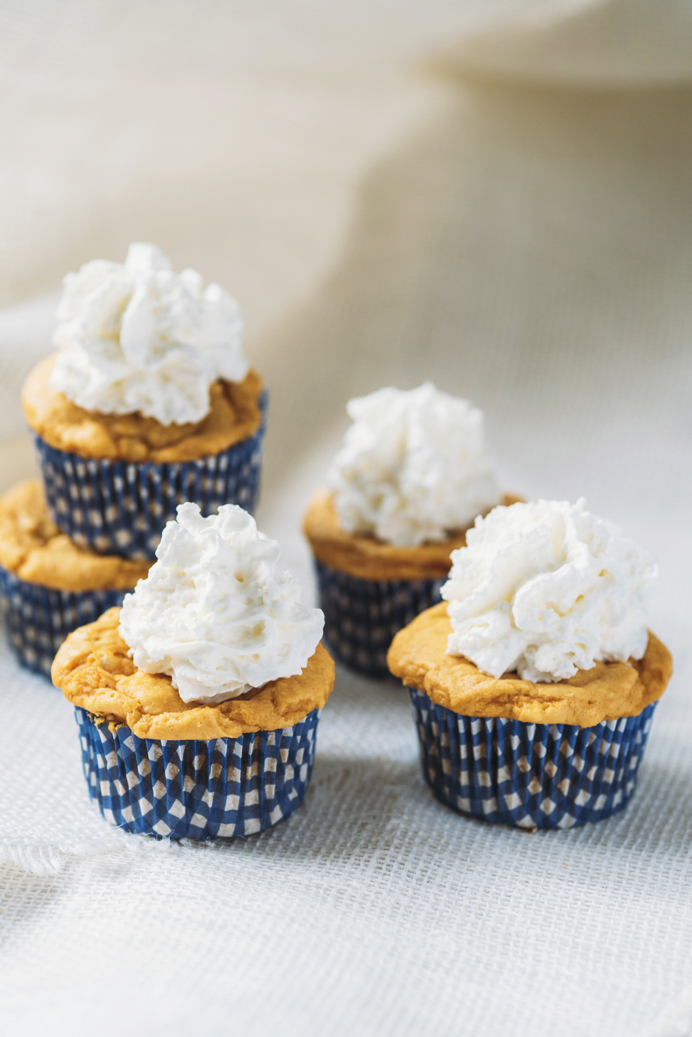 Whipped Cream Pumpkin Cupcakes