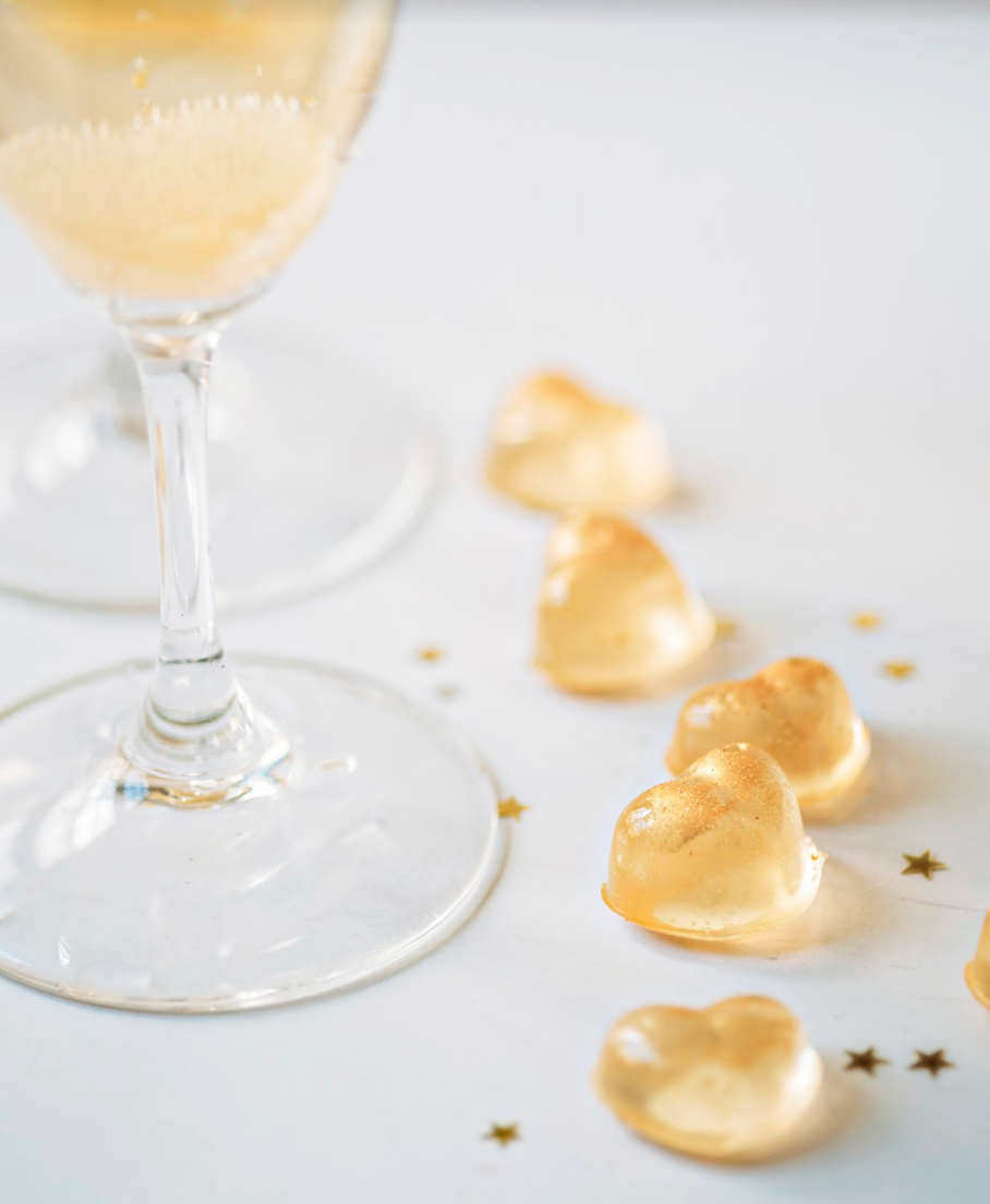 Gummy Champagne Hearts