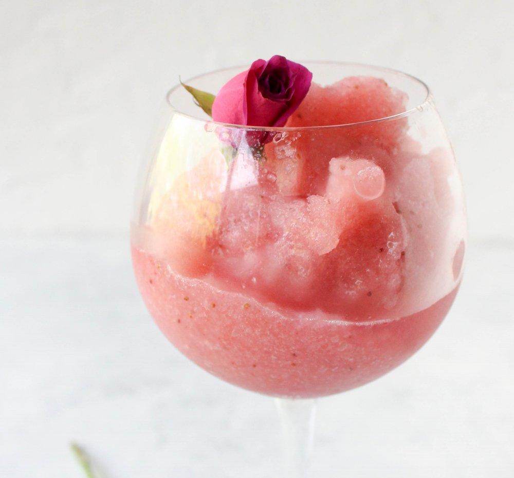 Non-Alcoholic Frosé (Frozen Rosé)