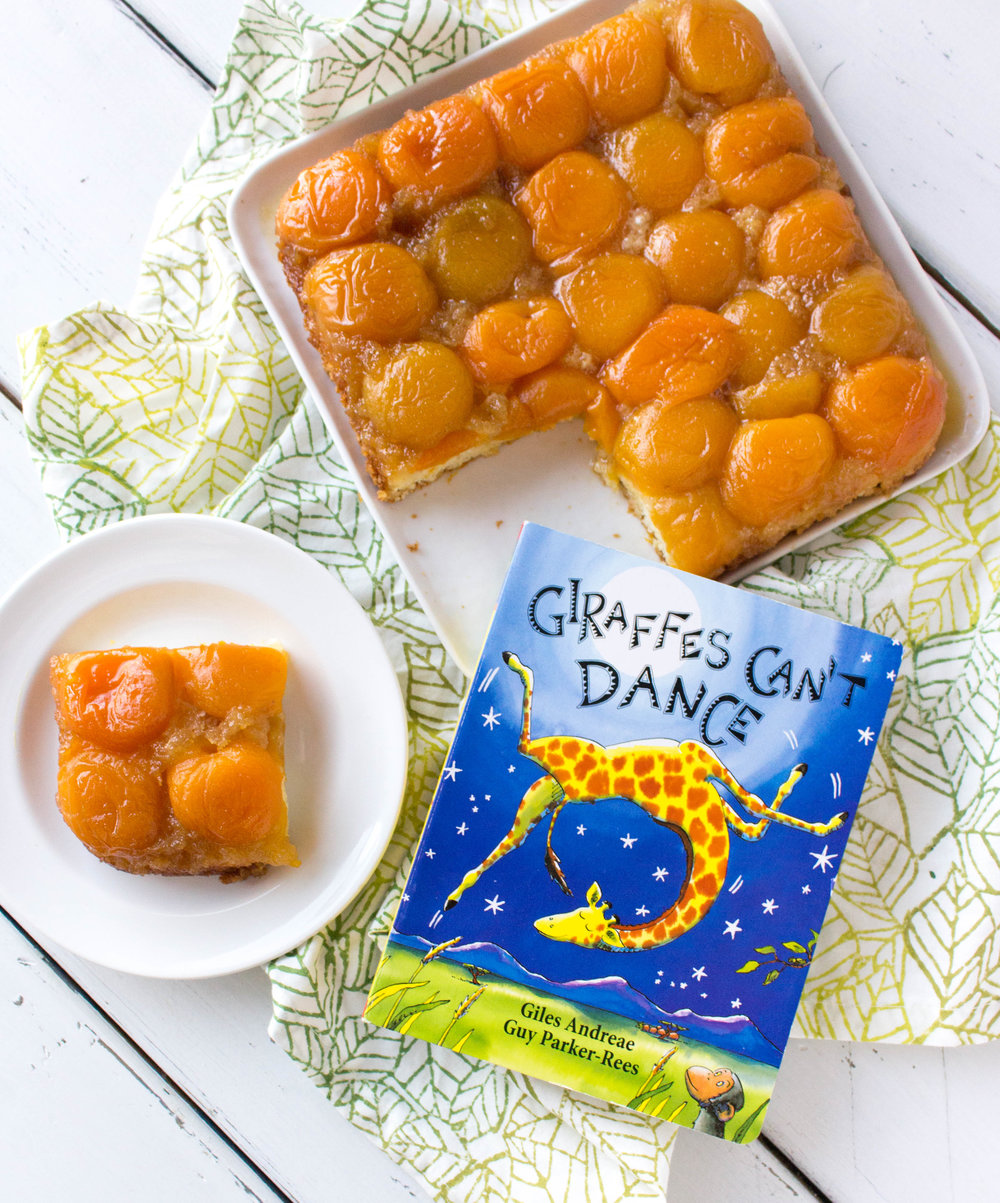 (Dancing) Upside-Down Apricot Cake