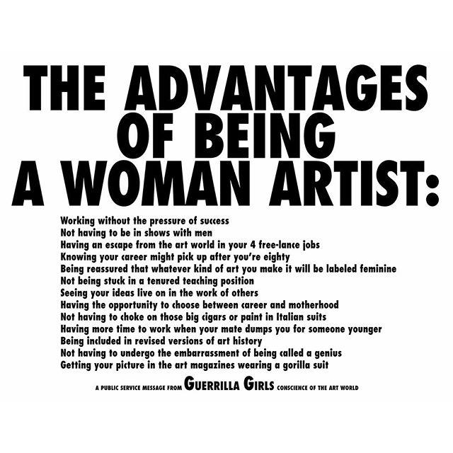 Via  www.guerrillagirls.com