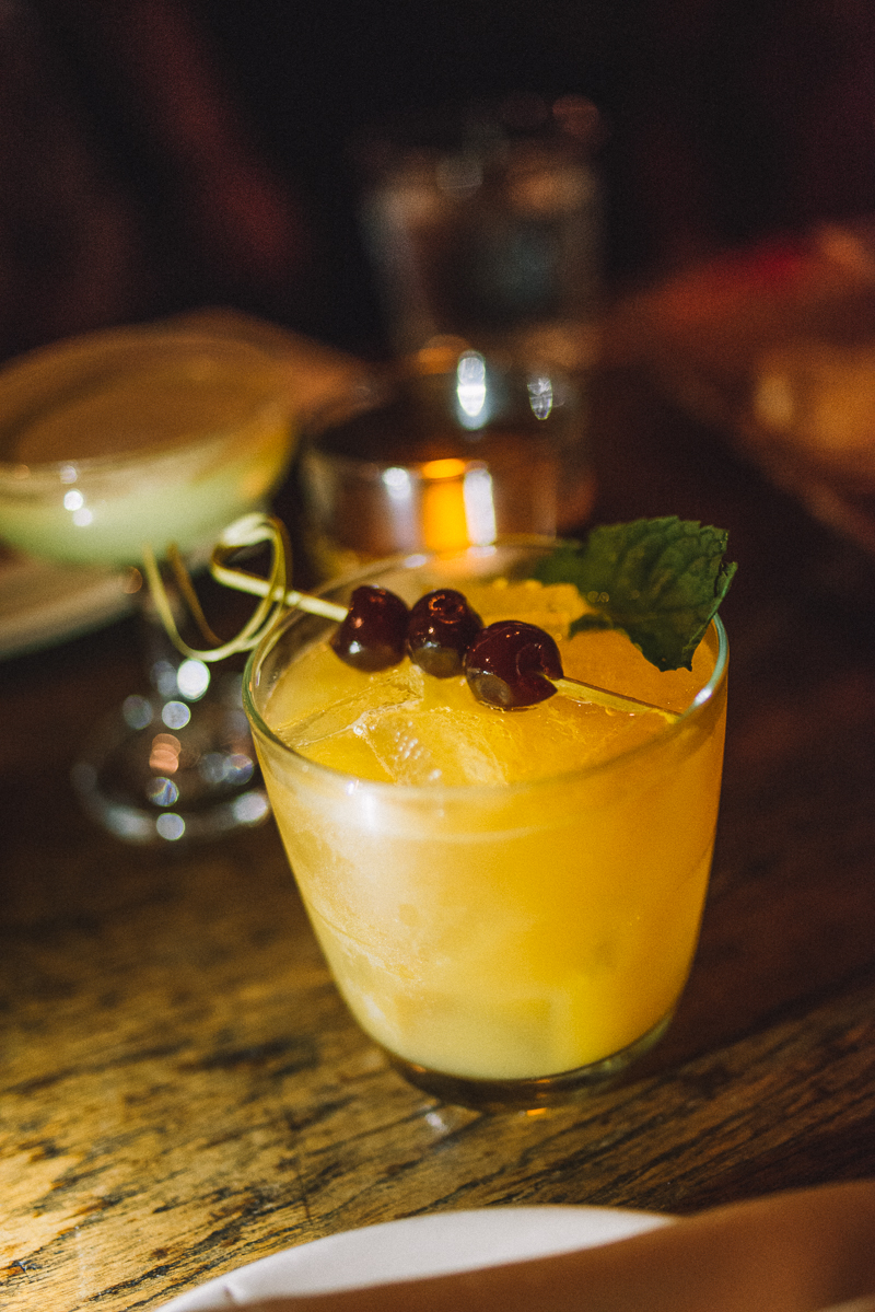 BRASS MONKEY | pineapple rum, amaretto, vermouth, orange juice