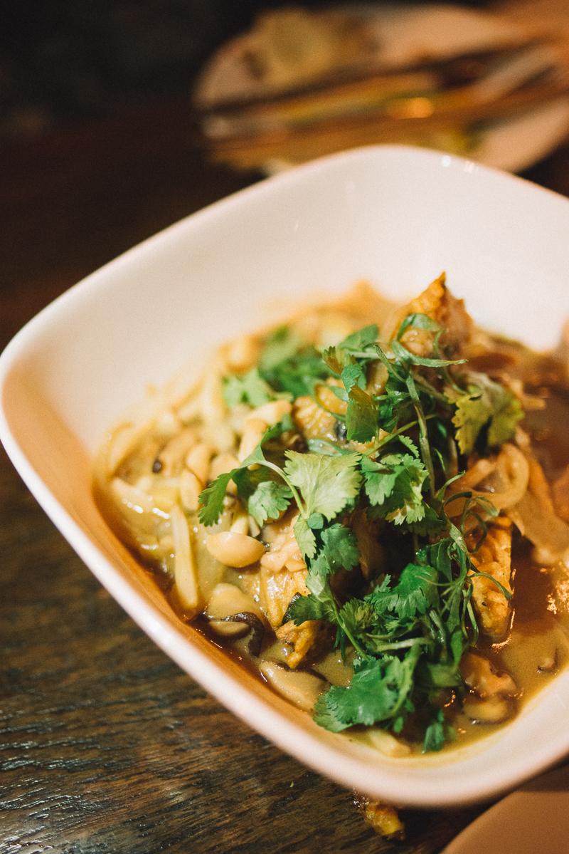 LONG LIFE NOODLE | crisp noodle cake, foie gras, mushroom gravy