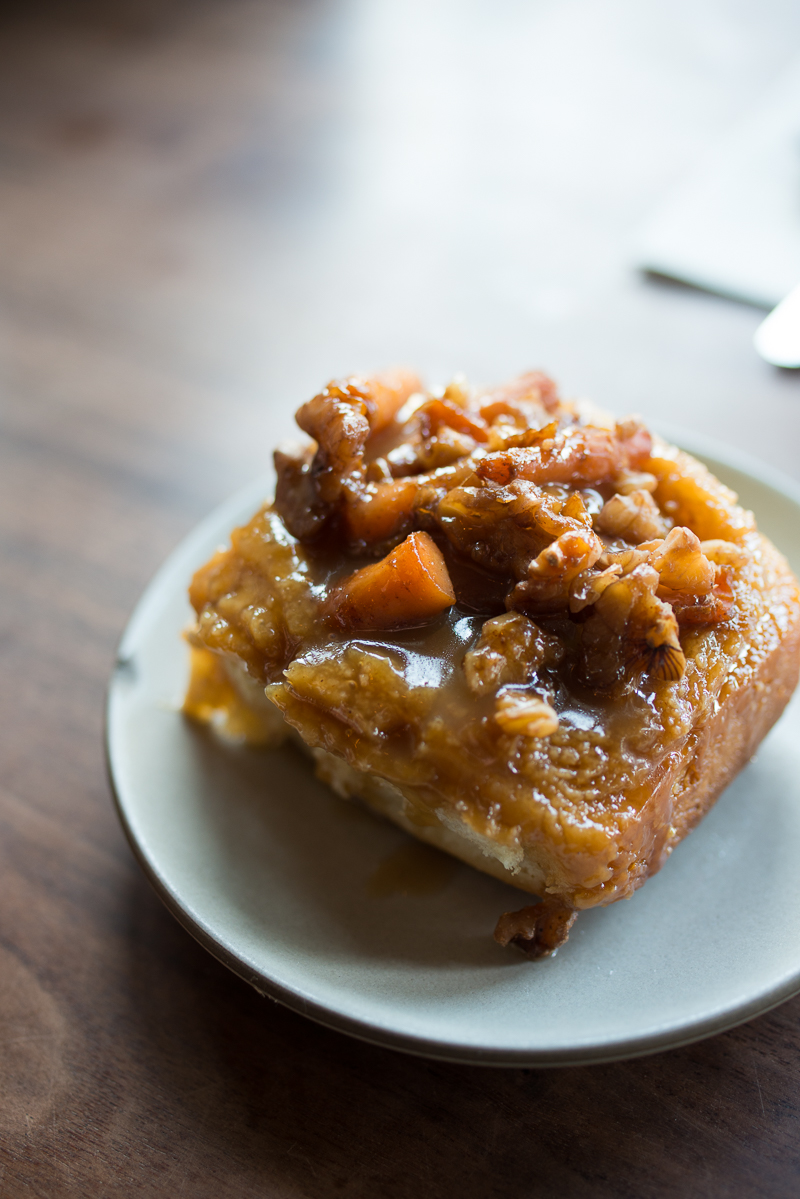 Sticky Bun w/ carrots and walnuts