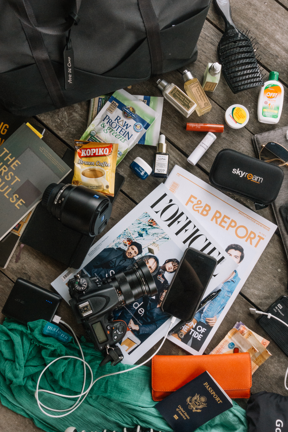 Flatlay Travel Essentials