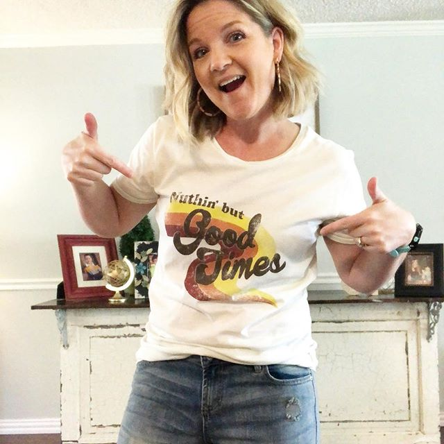 Where can you get the cutest tees ever? Why @the_spotted_zebra of course! Go check out my mom's boutique. She just got a Journey tee I've definitely got my eye on. #goodtimes