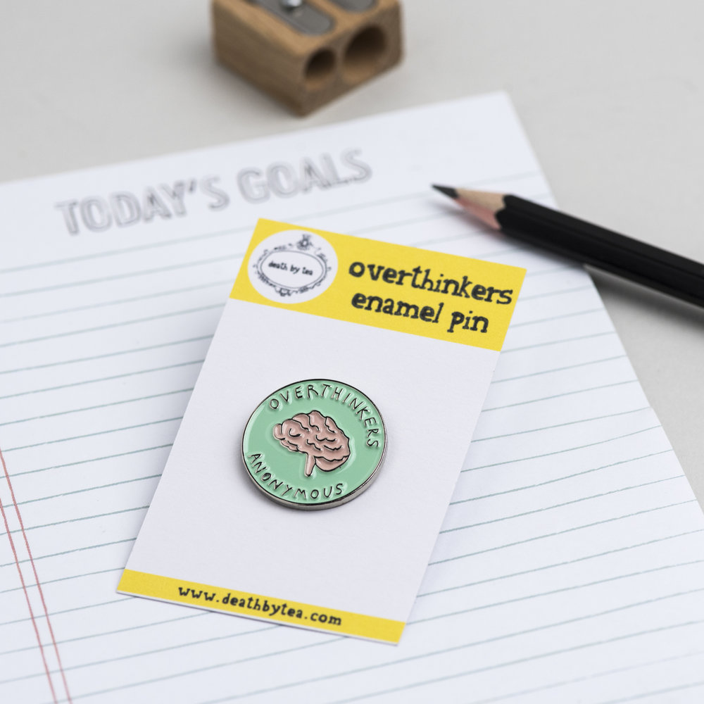 'Overthinkers' Enamel Pin Badge