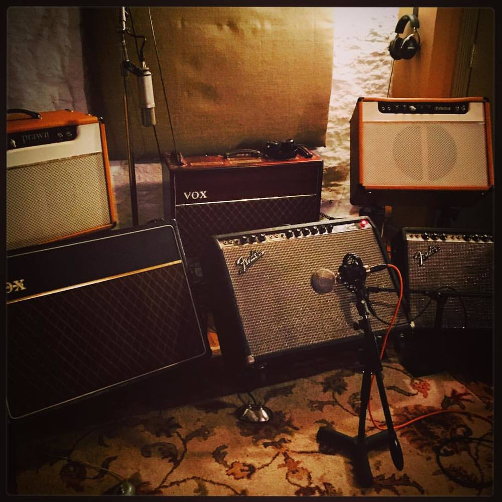 TIC-TAC-TONE.  Nearly finished tracking the new record, hope to start mixing soon.