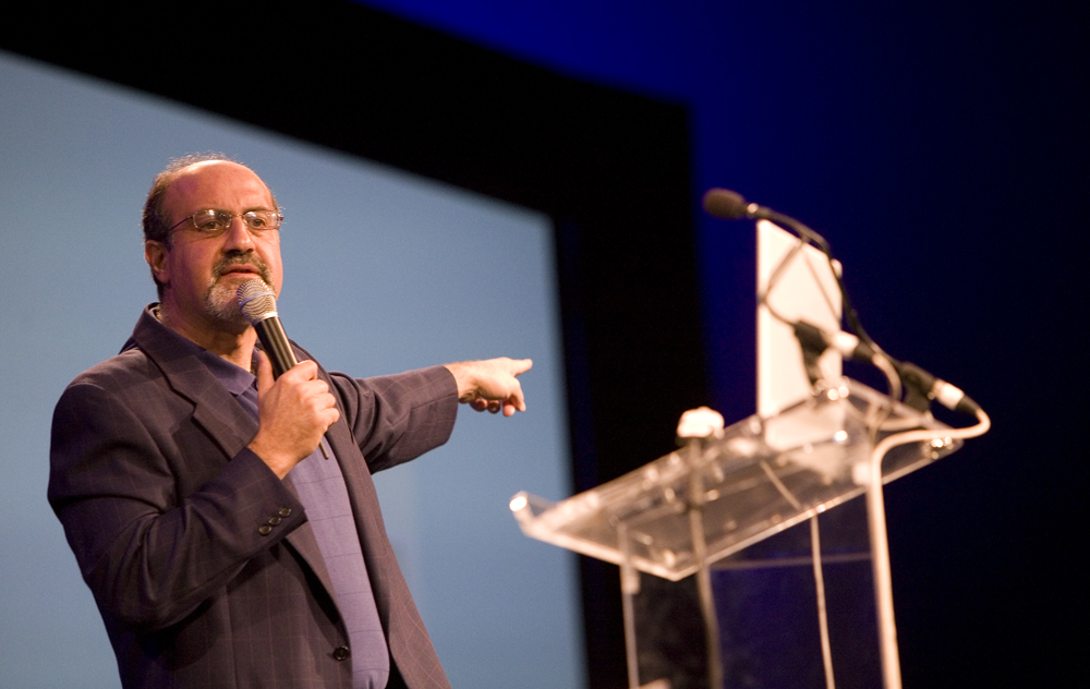 Image of Nassim Nicholas Taleb at IdeaFestival 2008: Geoff Oliver Bugbee