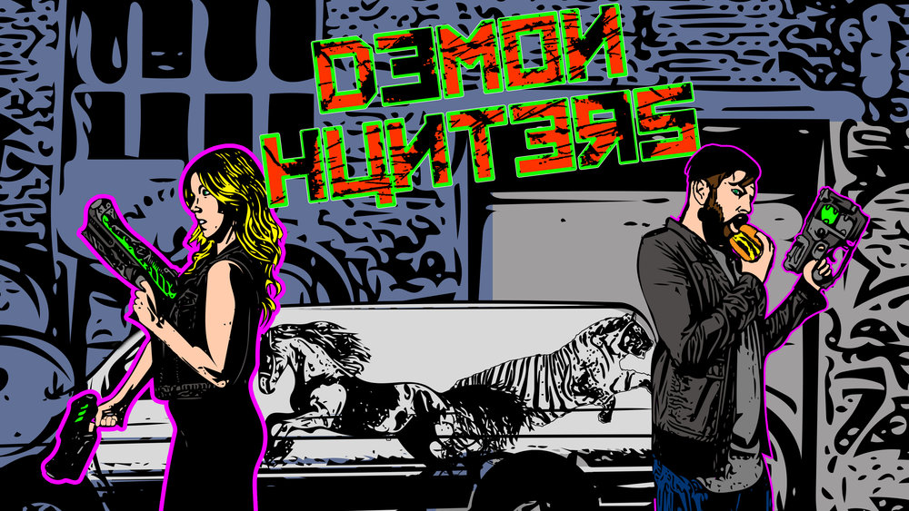 Demon Hunters is a totally sweet graphic novel written by Jeremy Craven.  Stay tuned for more.