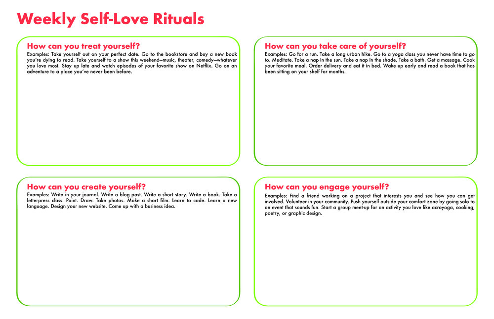 Weekly Self-Love Rituals Poster