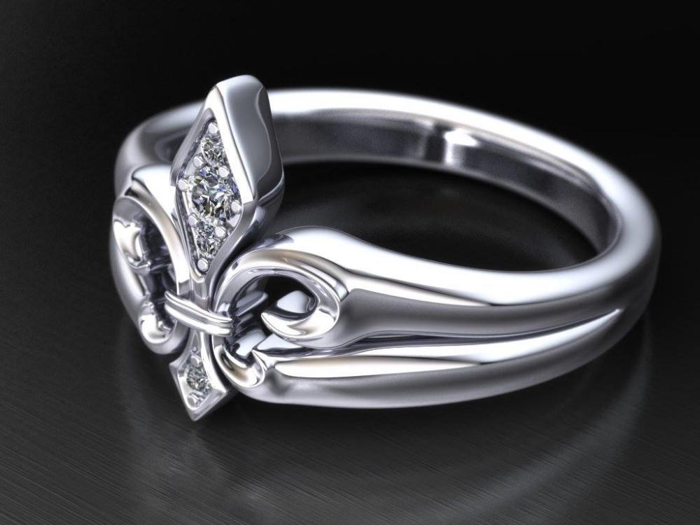Diamond Fleur De Lis