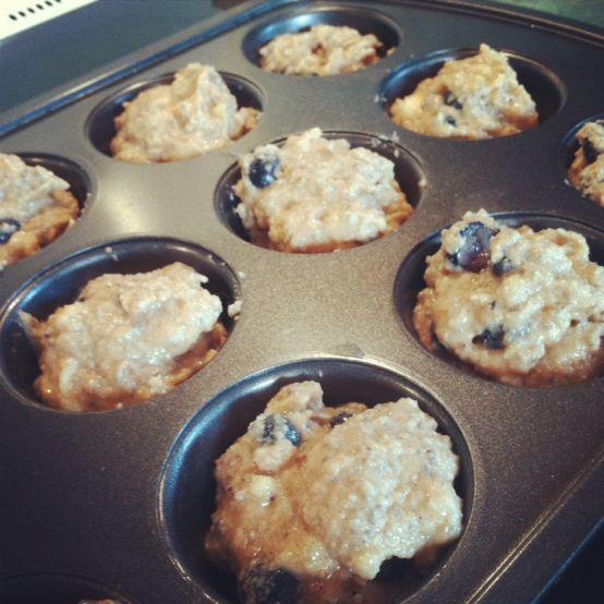 almond flour banana blueberry muffins1