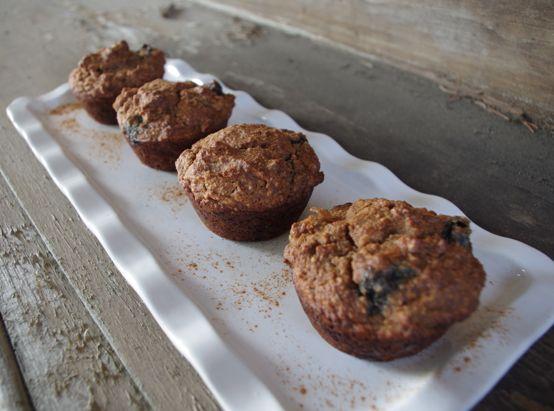 almond flour banana blueberry muffins3