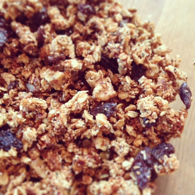 close up granola