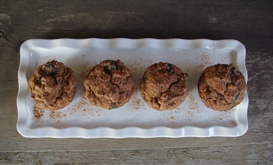 almond flour banana blueberry muffins2