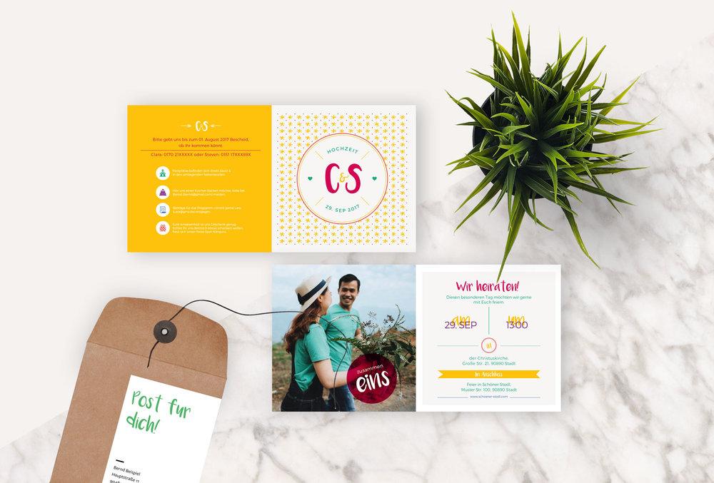 Einladungskarte hochzeit wedding invitation card for indesign einladungskarte hochzeit wedding invitation card for indesign stopboris Choice Image
