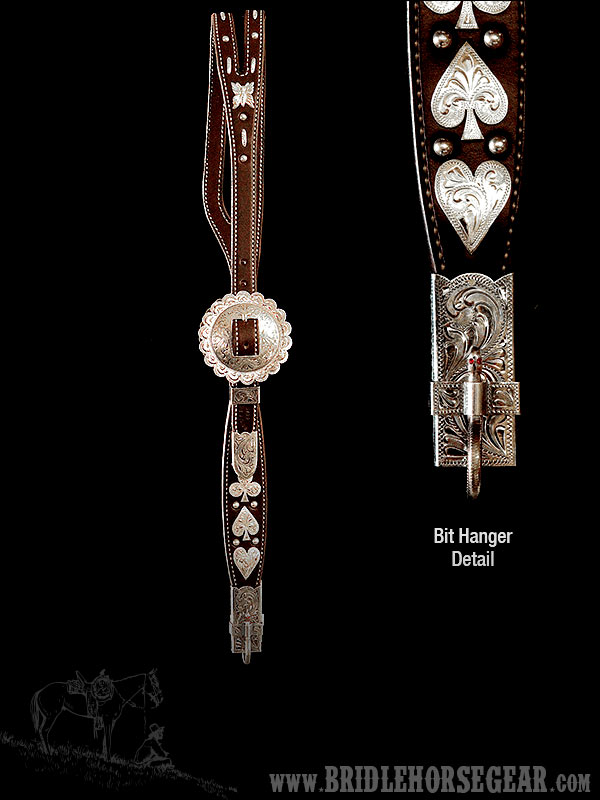 GARCIA REPLICA HEADSTALL W/STERLING SILVER HARDWARE
