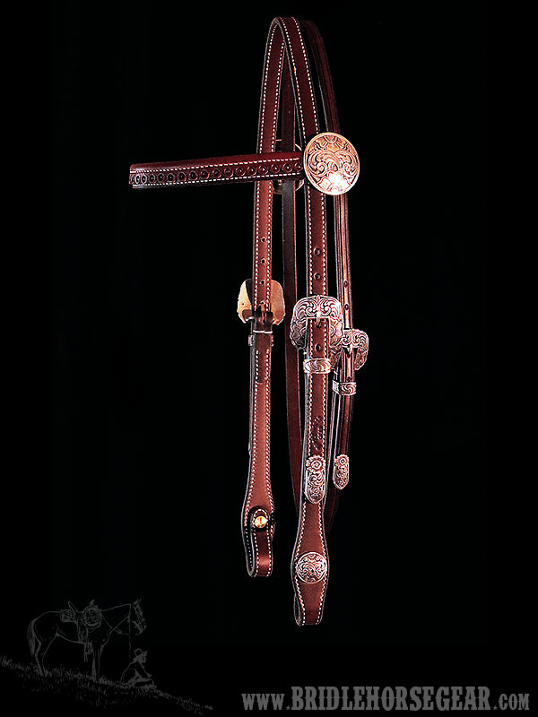 "Custom 5/8"" Browband Headstall"