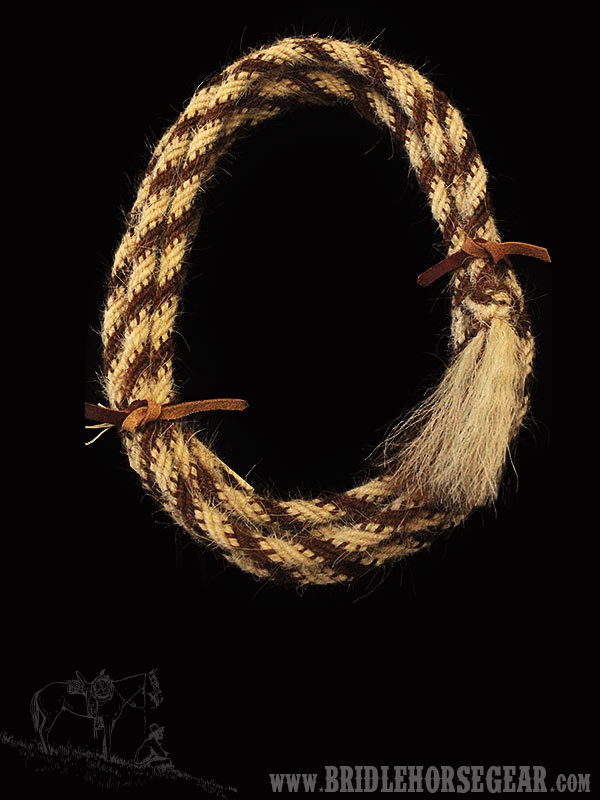 horsehair bridle rope handmade by brad cameron
