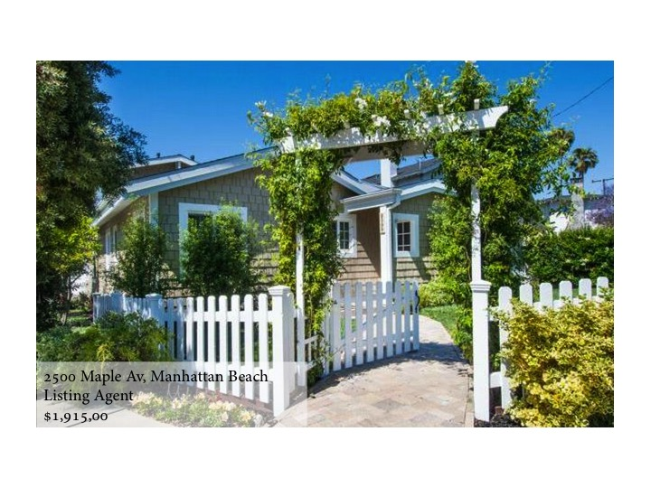 2500 Maple Ave, Manhattan Beach  Listing Agent  1,915,000