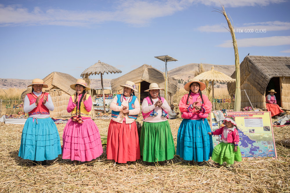 The Uros people of Lake Titicaca puts up a great show for tourists.
