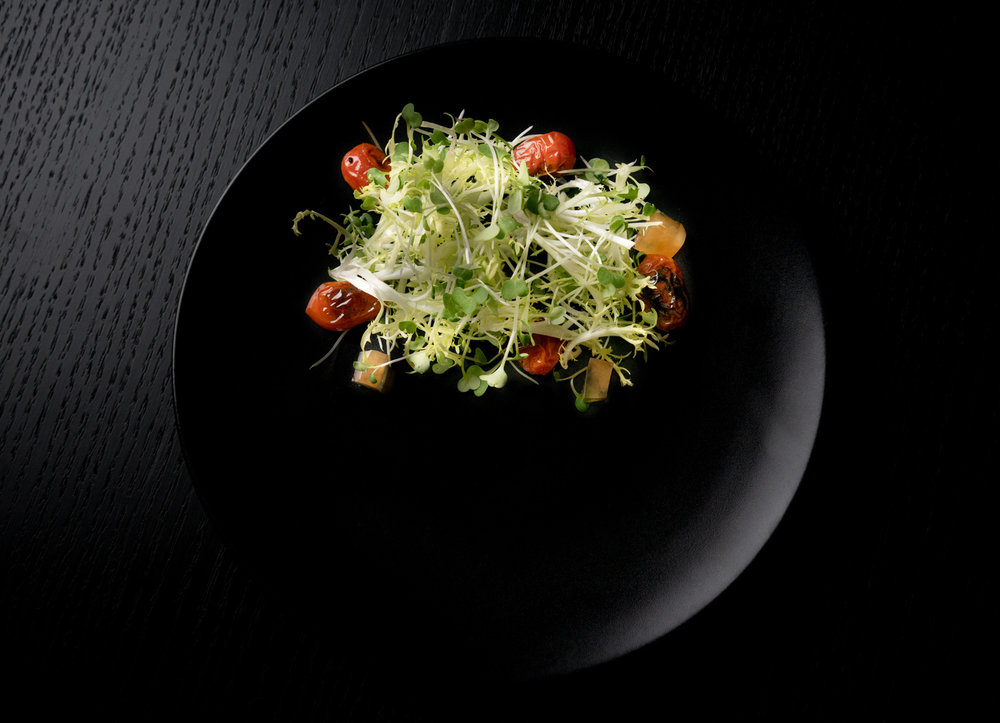 Salad Food Photography | Moody and Speakeasy Style. After all this scrumptious salad will be served during dinner menu.